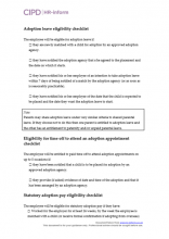 Adoption leave and pay eligibility checklist