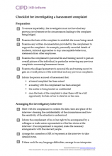 Checklist for investigating a harassment complaint