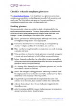Checklist to handle employee grievances