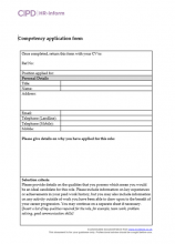Competency application form (GDPR compliant)