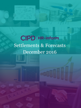 December 2016: Settlements and forecasts