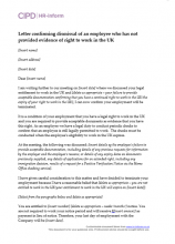 Letter confirming dismissal of an employee who has not provided evidence of right to work in the UK