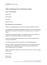 Fixed term workers hr inform letter confirming end of a fixed term contract spiritdancerdesigns Gallery