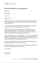 Letter explaining SPLIT day arrangements