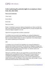 Paternity leave and pay hr inform letter explaining the paternity rights to an employee whose baby dies after birth spiritdancerdesigns Gallery