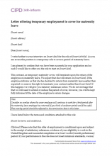 Letter Offering Temporary Employment To Cover For Maternity Leave  Maternity Leave Letter