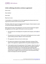 Pay hr inform letter outlining relocation assistance agreement pronofoot35fo Images