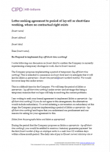Letter seeking agreement to lay-off or short-time working where no contractual right exists