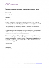 Pay hr inform letter to advise an employee of an overpayment of wages spiritdancerdesigns Gallery
