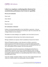 Letter to an employee confirming their dismissal for unsatisfactory performance due to capability