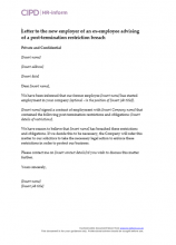 termination letter from employer