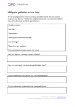 mid point probation review form