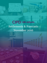 November 2016: Settlements and forecasts