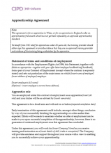 Apprenticeship agreement (Wales and schemes in England not yet replaced by approved apprentice standard)