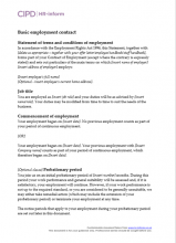Basic employment contract with restrictive covenants