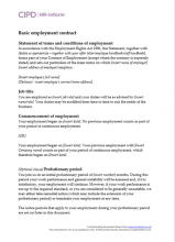 Basic employment contract
