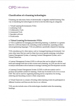 Classification of e-learning technologies