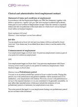 Clerical and administrative level employment contract