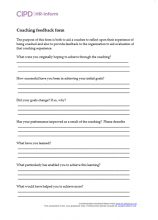 Coaching feedback form