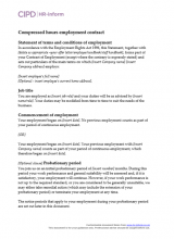 Compressed hours employment contract
