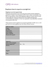 Employee form to request an eyesight test
