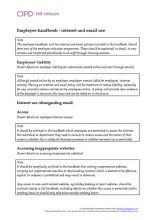 Employee handbook - internet and email use