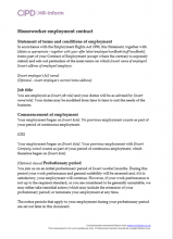 Homeworker employment contract