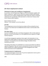 Job share employment contract