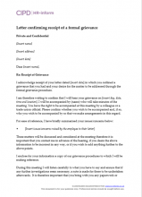 Managing employee grievance hr inform letter confirming receipt of a formal grievance thecheapjerseys