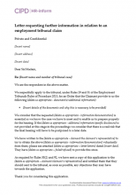 Letter requesting further information in relation to an employment tribunal claim