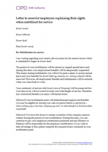 Letter to an employee to explain their rights if they have been mobilised for service