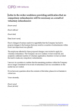 Letter to the wider workforce providing notification that no compulsory redundancies will be necessary as a result of voluntary redundancies