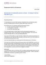 Pensions hr inform postponement letter for all employees spiritdancerdesigns Choice Image