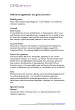 Settlement agreement template and drafting guidance