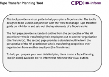 Visual guide to Tupe transfer planning