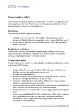 Young workers policy