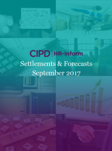 September 2017: Settlements and forecasts