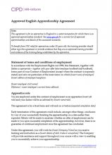 Approved apprenticeship agreement (England)