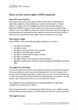 Policy on data subject rights