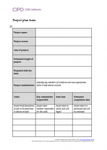 Project planning form