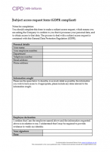 access order form template
