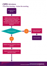 Grievance hearing - before the meeting flowchart