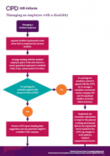 Managing an employee with a disability flowchart