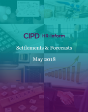 May 2018: Settlements and forecasts