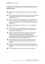 Checklist for carrying out risk assessments for mental health hazards