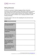 Educational staff questionnaire