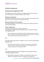 Workforce agreement