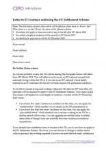 Letter to EU workers outlining the EU Settlement Scheme