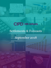 September 2018: Settlements and forecasts