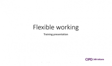 Flexible working training session